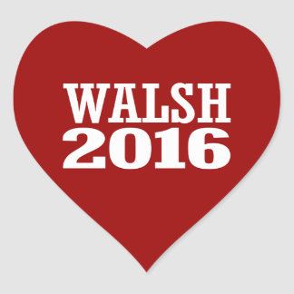 Walsh - Joe Walsh 2016 Pegatina En Forma De Corazón