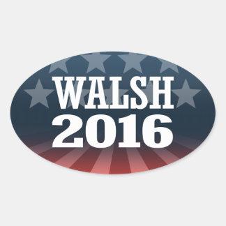 Walsh - Joe Walsh 2016 Pegatina Ovalada