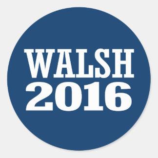 Walsh - Joe Walsh 2016 Pegatina Redonda