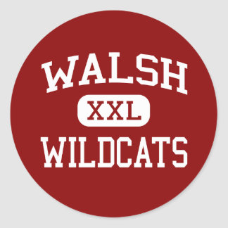 Walsh - Wildcats - Middle - Framingham Classic Round Sticker