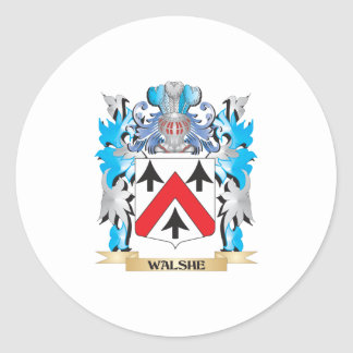 Walshe Coat of Arms - Family Crest Classic Round Sticker