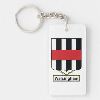 Walsingham Family Crest Keychain