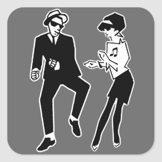 Walt Jabsco & Betty Beat II Square Sticker