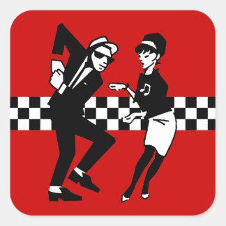 Walt Jabsco & Betty Beat in Red Square Sticker