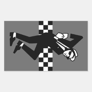 Walt Jabsco in Grey Rectangular Sticker