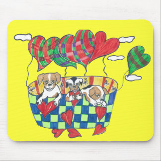 Walt the Maltese Pug Happy Valentine's Day Mouse Pad