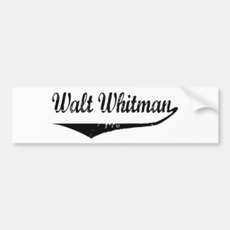 Walt Whitman Bumper Sticker