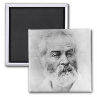 Walt Whitman Civil War 2 Inch Square Magnet