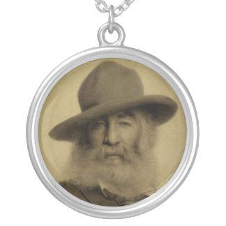 Walt Whitman en tiza en el papel Colgante Redondo