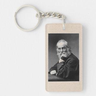 Walt Whitman en Washington, C.C. Llavero Rectangular Acrílico A Doble Cara
