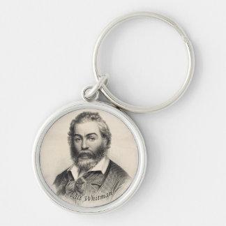 Walt Whitman Engraving, Age 41 Keychain