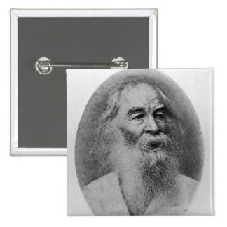 Walt Whitman, fotografiado en 1889 Pin Cuadrado