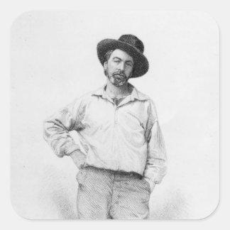 Walt Whitman frontispiece a las hojas de Etiquetas