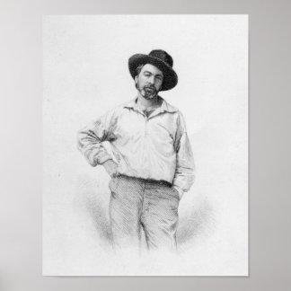 Walt Whitman, frontispiece a las 'hojas de Póster