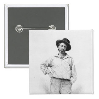 Walt Whitman, frontispiece to 'Leaves of Pinback Button
