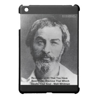 "Walt Whitman ""Insult The Soul"" Quote Gifts & Cards Cover For The iPad Mini"