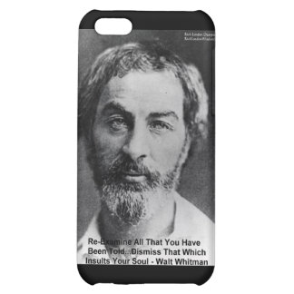 """Walt Whitman """"Insult The Soul"""" Quote Gifts & Cards iPhone 5C Cover"""