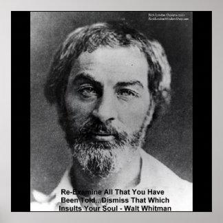 "Walt Whitman ""Insult The Soul"" Wisdom Posters"