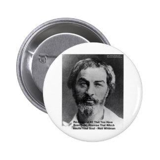 "Walt Whitman ""insulto regalos y tarjetas de la cit Pin Redondo De 2 Pulgadas"