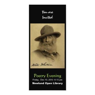 """Walt Whitman Invitación 4"""" X 9.25"""""""