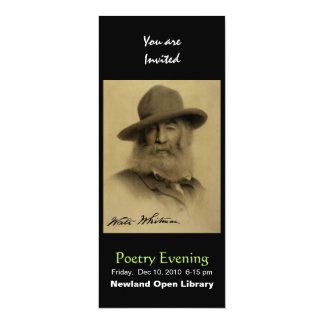 Walt Whitman 4x9.25 Paper Invitation Card