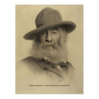"Walt Whitman ""journey-work of the stars"" Postcards"