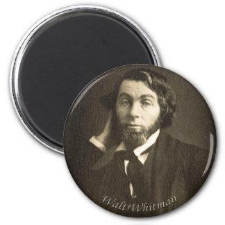 Walt Whitman joven Imán Redondo 5 Cm