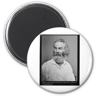 Walt Whitman Joy With You Love Quote Mugs Tees etc 2 Inch Round Magnet