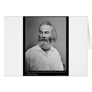 Walt Whitman Joy With You Love Quote Mugs Tees etc Card
