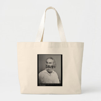Walt Whitman Joy With You Love Quote Mugs Tees etc Large Tote Bag