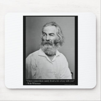 Walt Whitman Joy With You Love Quote Mugs Tees etc Mouse Pad