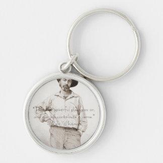 Walt Whitman key chain