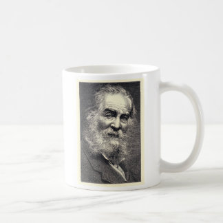 Walt Whitman Leaves of Grass Engraving Classic White Coffee Mug