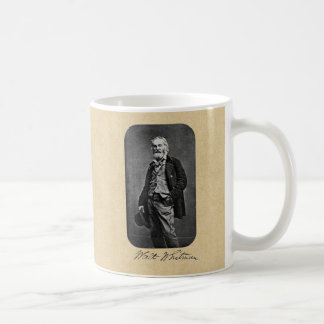 Walt Whitman Leaves of Grass Frontispiece Classic White Coffee Mug