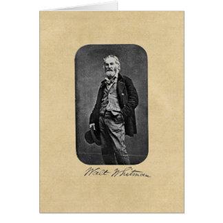 "Walt Whitman ""lleve que tarjeta de felicitación"