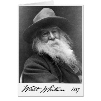 "Walt Whitman ""More Immortal Even Than the Stars"" Greeting Card"