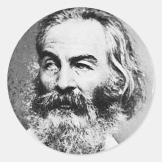 Walt Whitman Etiqueta Redonda