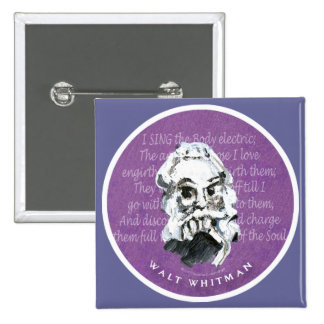 Walt Whitman Pin Cuadrado