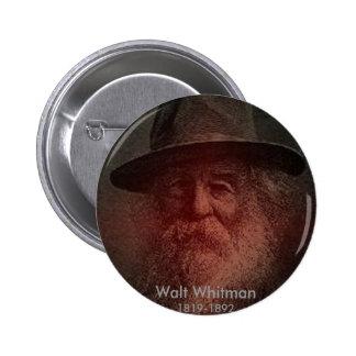 Walt Whitman Pin Redondo De 2 Pulgadas