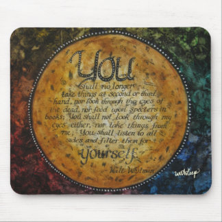 Walt Whitman Quote Mouse Pad by unASLEEP