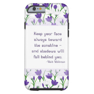 Walt Whitman Quote- Spring Crocus Flowers iPhone 6 Case