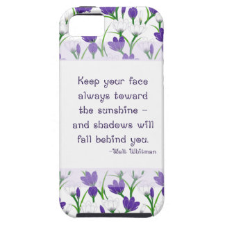 Walt Whitman Quote- Spring Crocus Flowers iPhone 5 Case