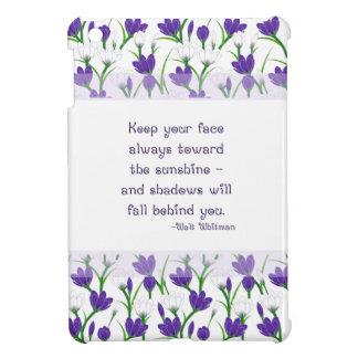 Walt Whitman Quote- Spring Crocus Flowers iPad Mini Cover