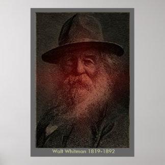 Walt Whitman - retrato Póster
