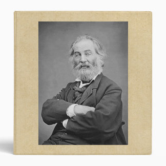 Walt Whitman Seated Portrait Photograph Age 47 3 Ring Binder