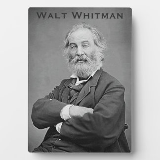 Walt Whitman Seated Portrait Photograph Age 47 Plaque