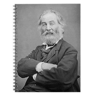 Walt Whitman Seated Portrait Photograph Age 47 Spiral Notebook
