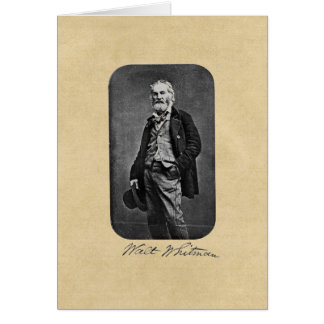 "Walt Whitman ""Take to the Open Road"" Greeting Card"