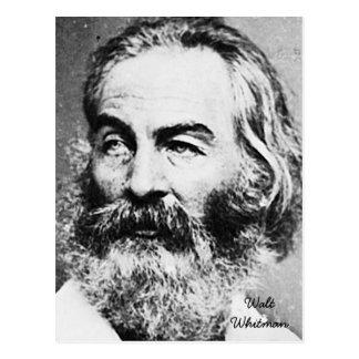 Walt Whitman Tarjeta Postal