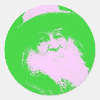 Walt Whitman Two-Tone Classic Round Sticker